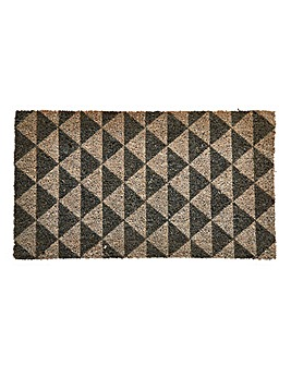 Geo Triangles Coir Door Mat