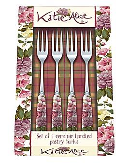Katie Alice Highland Fling Pastry Forks
