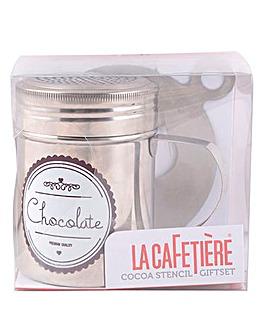 La Cafetiere Cocoa Shaker and Stencil