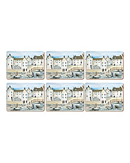 Cornish Harbour Set Of 6 Premium Mats