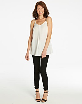 Warm Ivory Strappy Cami Top