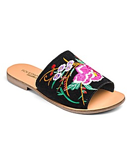Sole Diva Fifi Embroidered Mule EEE Fit