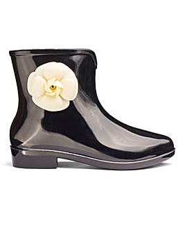 Glamorous Floral Detail Wellie D Fit