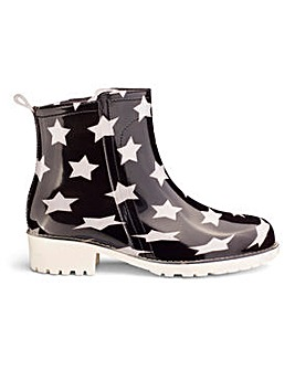 Glamorous Star Detail Wellie D Fit