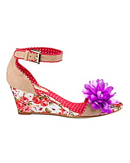 Joe Browns Floral Wedge E Fit