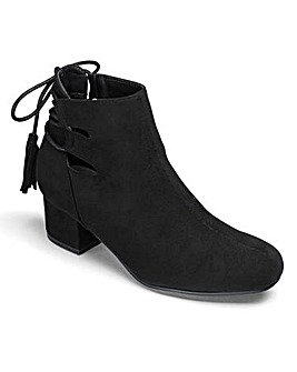 Truffle Tie Detail Ankle Boot D Fit