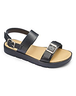 Sole Diva Twin Strap Sandal EEE Fit