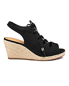Sole Diva Ghillie Tie Wedge EEE Fit