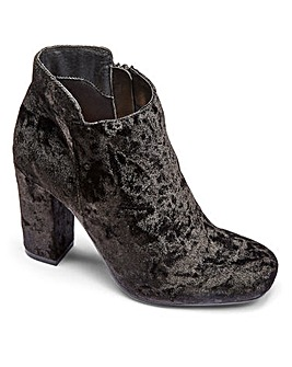Sole Diva Velvet Ankle Boots EEE Fit