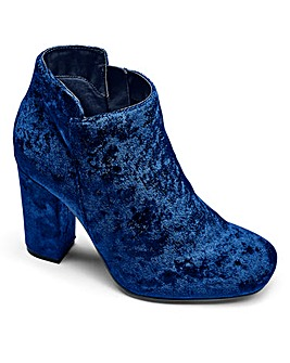Sole Diva Velvet Ankle Boots E Fit