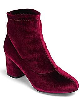 Truffle Velvet Ankle Boot D Fit