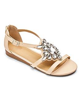 Sole Diva Jewelled Sandal E Fit