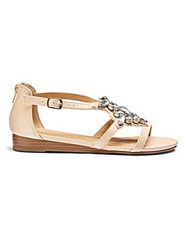 Sole Diva Luci Jewelled Sandal EEE Fit