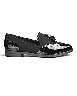 Sole Diva Jessica Tassel Loafers E Fit