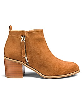 Sole Diva Lucy Side Zip Boots E Fit