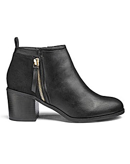Sole Diva Lucy Side Zip Boots EEE Fit
