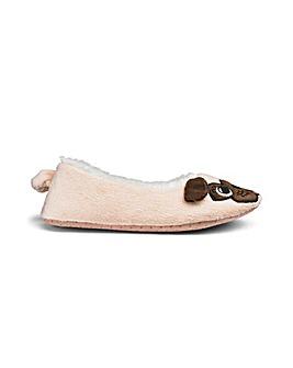 Pug Ballerina Slipper