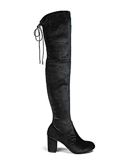 Glamorous Velvet Over The Knee Boot