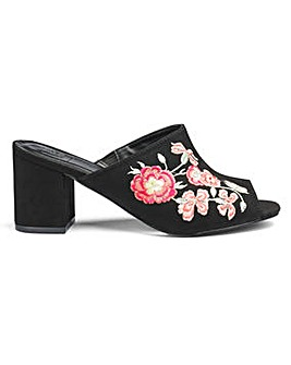 Molly Embroidered Mule EEE Fit