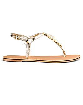 Sole Diva Gracie Diamante Sandal EEE Fit
