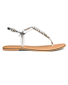 Sole Diva Gracie Diamante Sandal E Fit