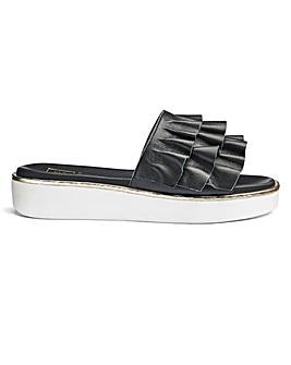 Sole Diva Ruffle Trim Sandals D Fit