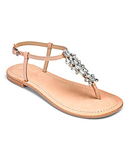 Sole Diva Lollie Leather Toepost EEE Fit