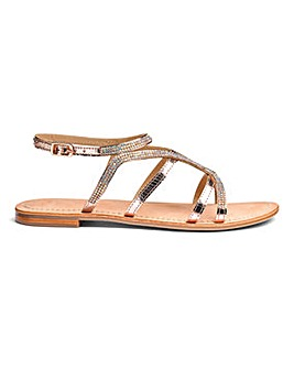 Sole Diva Amy Leather Sandal EEE Fit