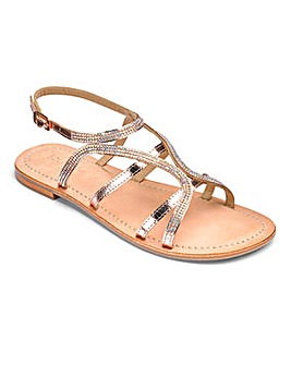 Sole Diva Amy Leather Sandals EEE Fit