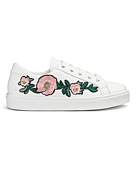 Sole Diva Embroidered Trainer E Fit