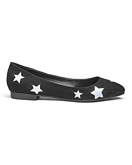 Sole Diva Milly Star Flats EEE Fit