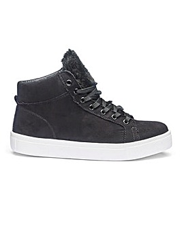 Sole Diva Marley Fur Hi Tops E Fit