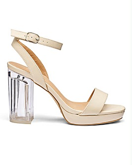 Sole Diva Louise Perspex Heel E Fit
