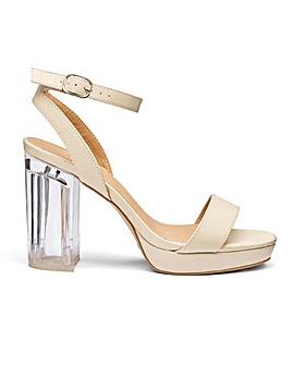 Sole Diva Louise Perspex Heel EEE Fit