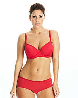After Eden Red Balcony Bra