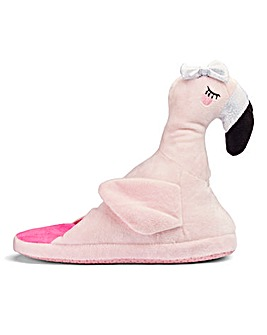 Flamingo Novelty Mule Slipper