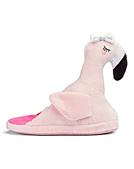 Flamingo Novelty Mule Slipper Wide Fit