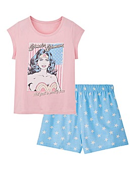 Wonder Woman Printed Shortie Set