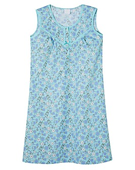 Pretty Secrets Woven Cotton Chemise 38""