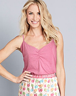 Pretty Secrets Ruched Cami Top