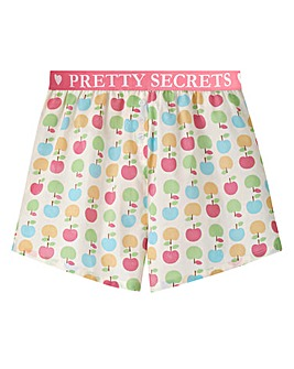 Pretty Secrets Waistband Cotton Shorts