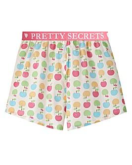 Pretty Secrets Waistband Cotton Shorts
