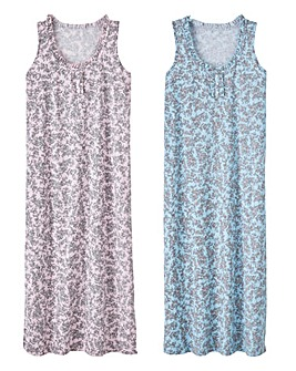 Pretty Secrets Pack of 2 Maxi Nighties