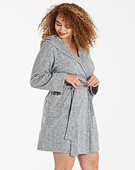 Pretty Secrets Soft Knitted Hooded Gown