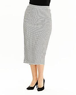 Check Jacquard Pencil Skirt