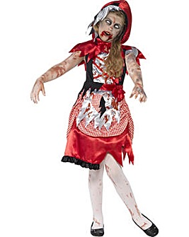 Halloween Girls Zombie Miss Hood Costume