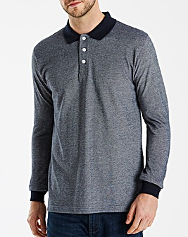 Jacamo Contrast Collar Polo Long