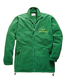 Personalised Head Gardener Zip Up Fleece
