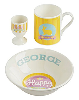 Personalised Yellow Easter Breakfast Set