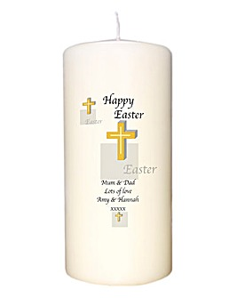 Personalised Trad Easter Pillar Candle